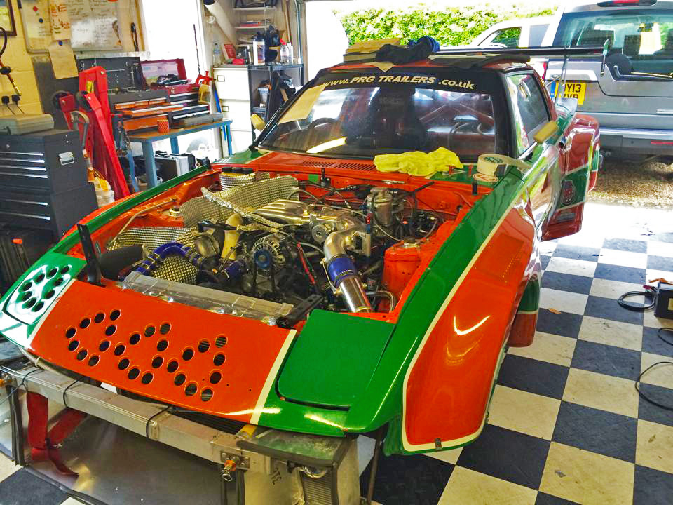 550 bhp Mazda RX7 thunder saloon race car