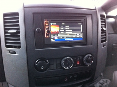 Retrofitted Kenwood DVD, Sat Nav To Mercedes Sprinter