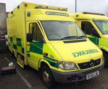 An Ambulance With No Blues Or Twos...